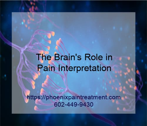 Graphic stating The Brains Role in Pain Interpretation